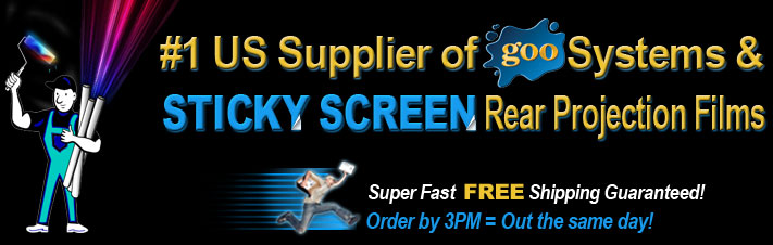 Alternative Home Theatre - The #1 US supplier of Screen Goo projector screen paint and Goo Systems products.